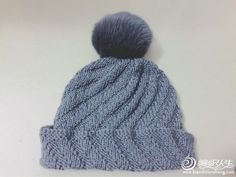 烟灰色毛线帽