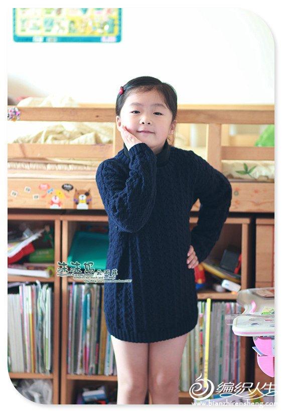 手编女孩毛衣