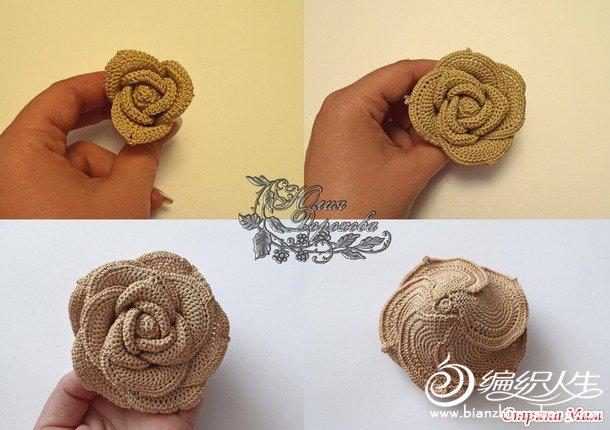 玫瑰花钩法