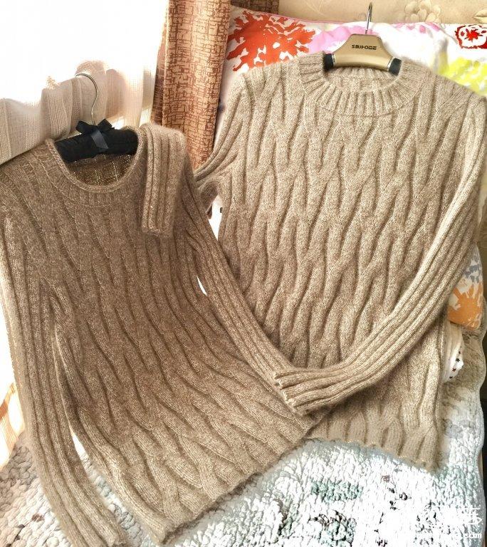 棒针情侣羊绒衫