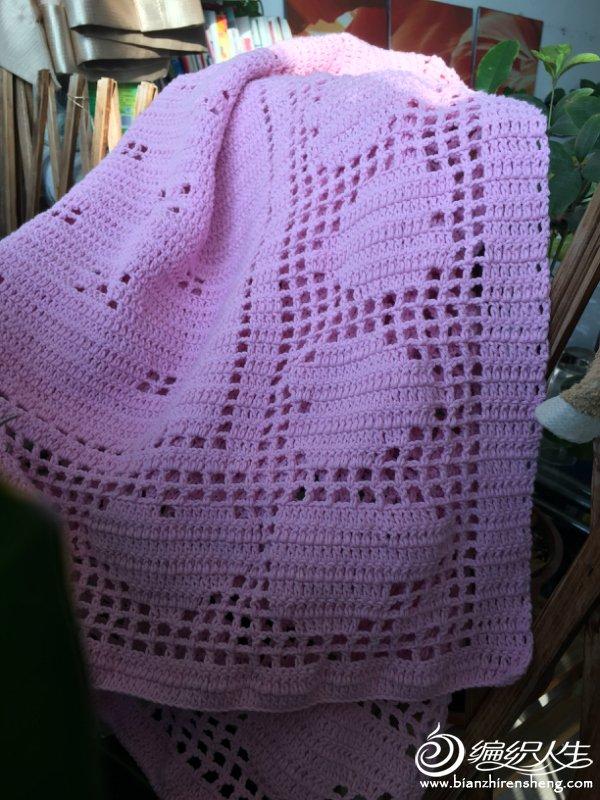 毛线编织爱心毯
