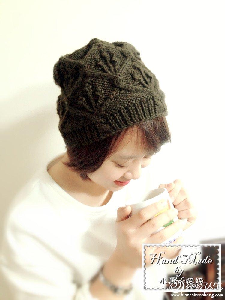 冬季棒针毛衣帽款式