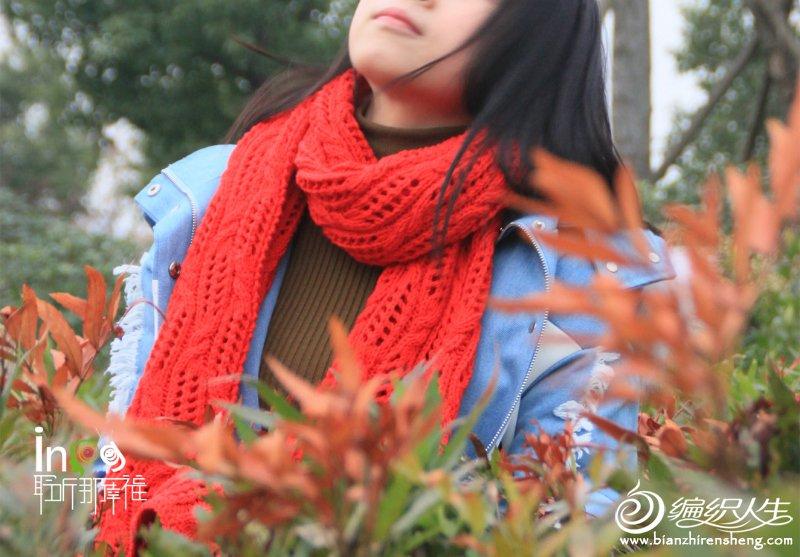 粗针织围巾款式