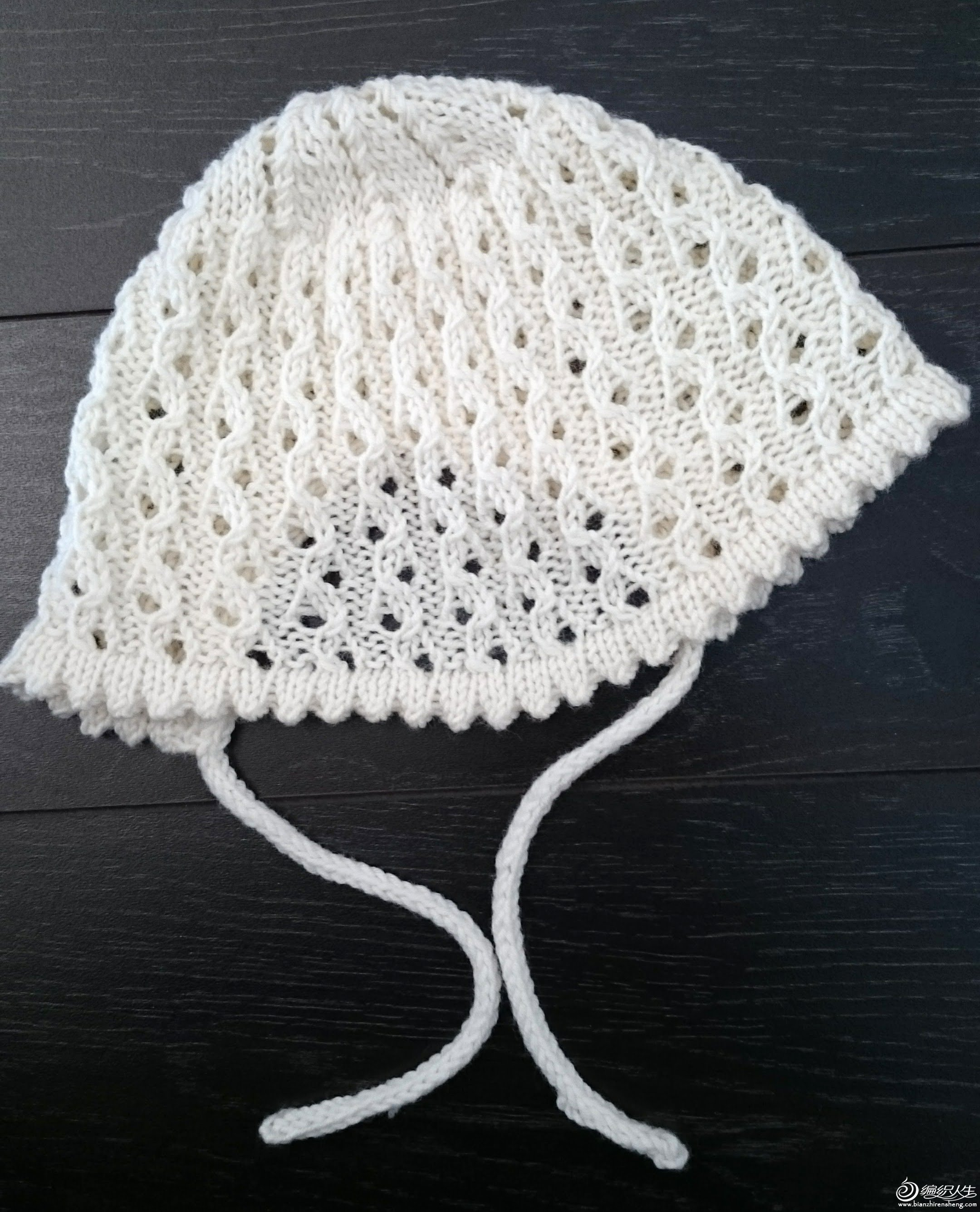 棒针婴儿帽子