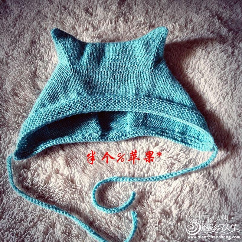 宝宝棒针护耳帽