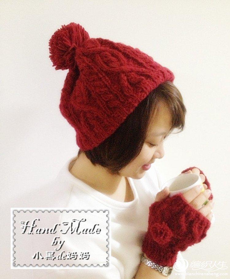 北欧风粗针织毛线帽