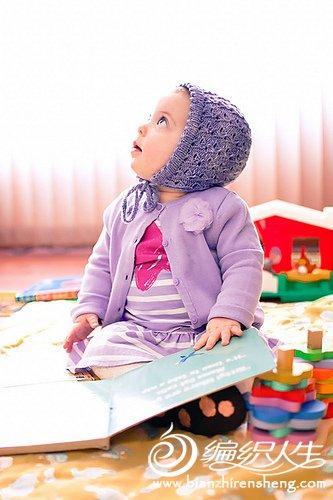 bonnet婴儿棒针帽子