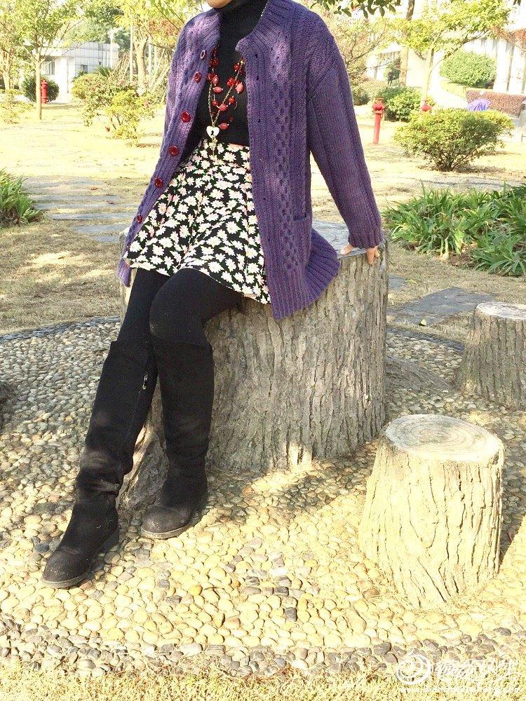 手工编织女士毛衣外套