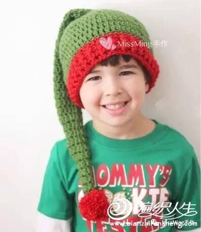 儿童钩针圣诞帽