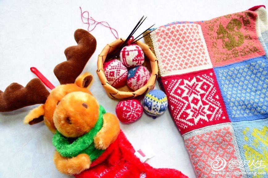 毛线圣诞装饰物