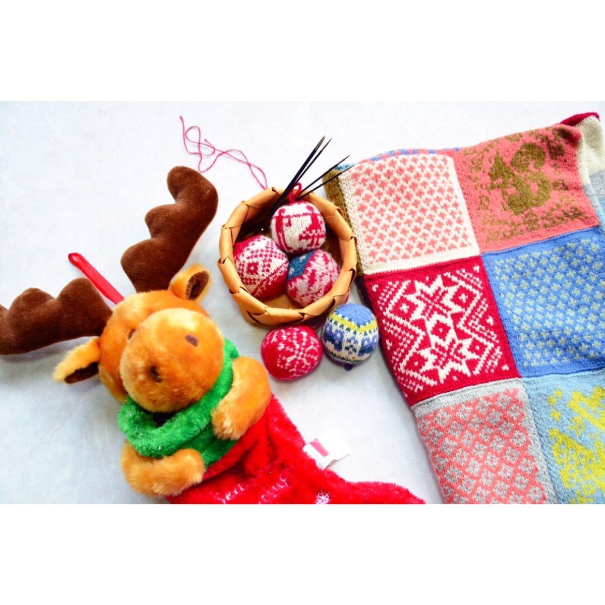 棒针编织圣诞主题