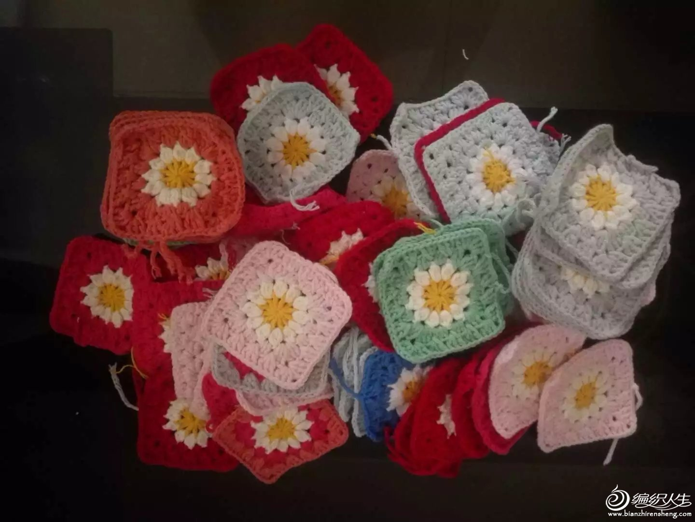 编织教程 牛奶棉钩针糖果花园拼花毯子  图解