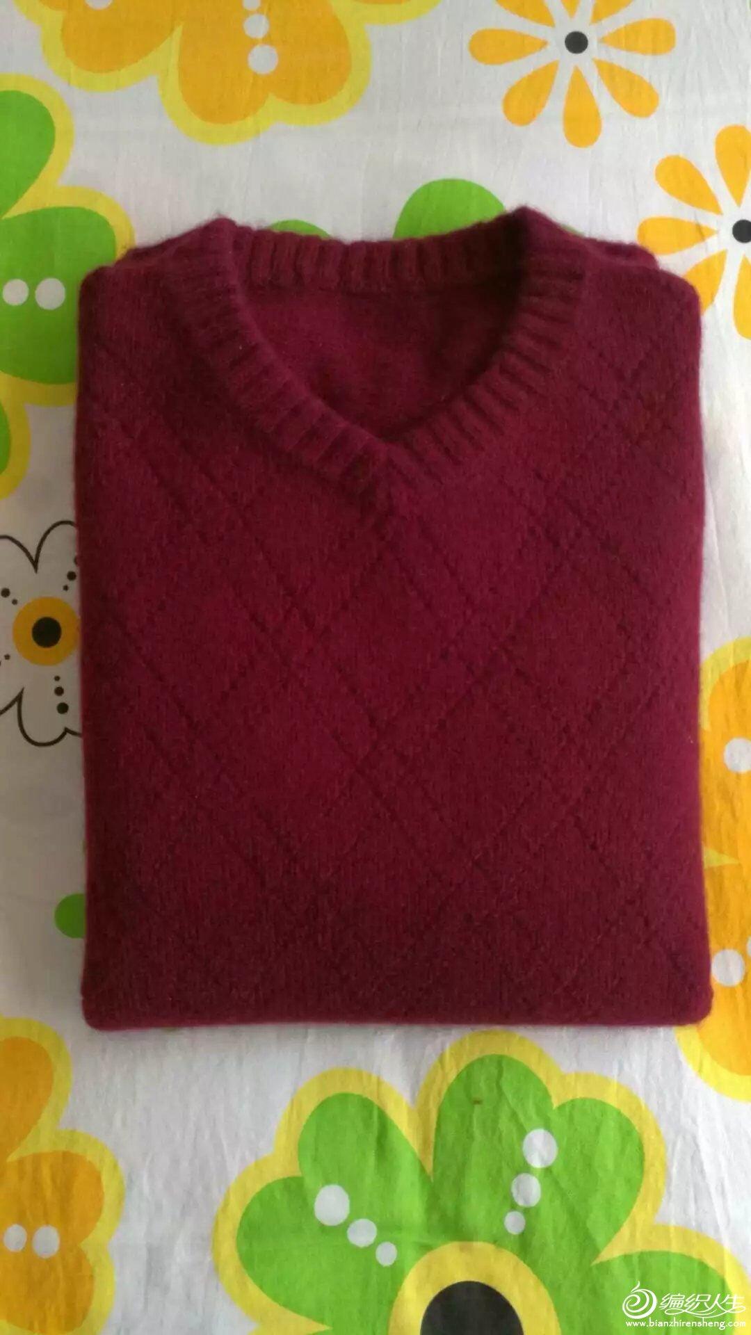 手工编织男士羊绒衫