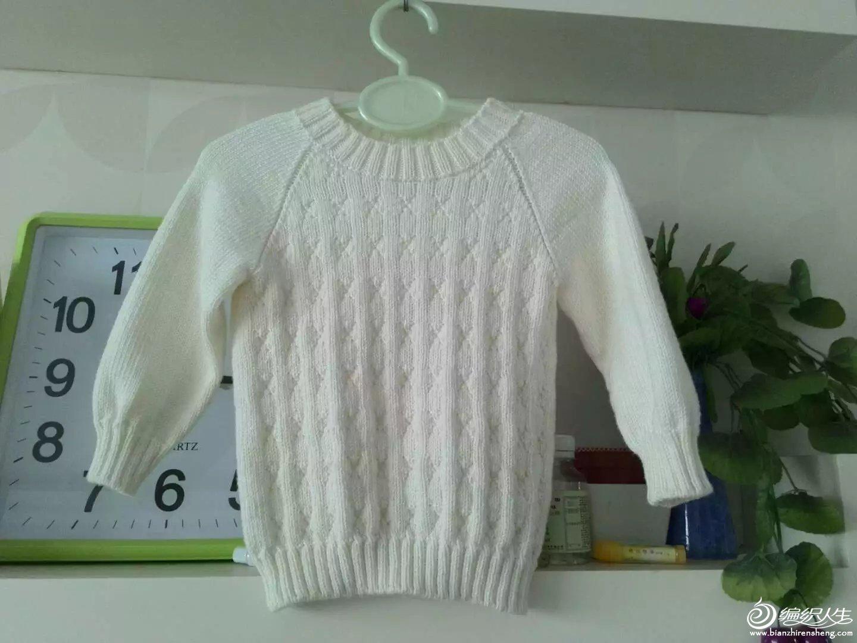 编织教程 从下往上织男童插肩袖毛衣  一个人带娃没时间,怎么简单怎么