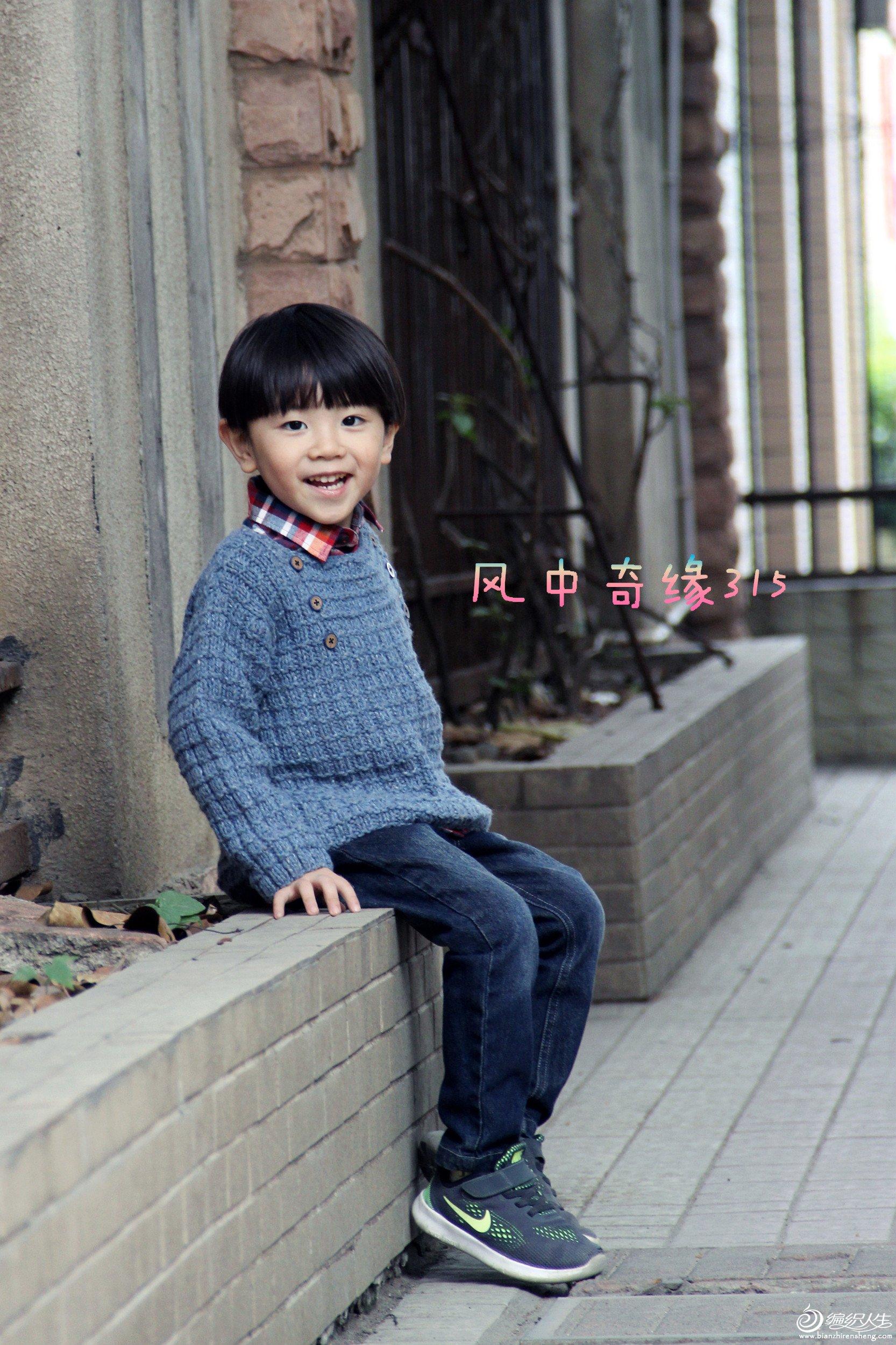 韩式男童棒针毛衣