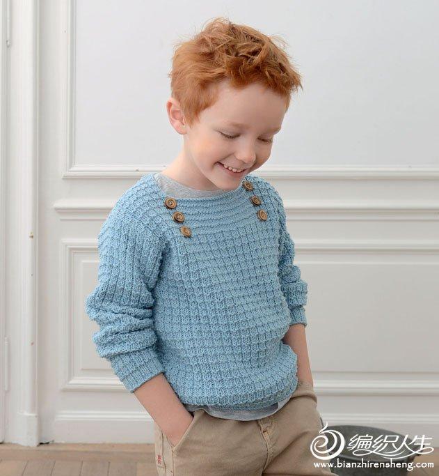 欧美编织男孩毛衣