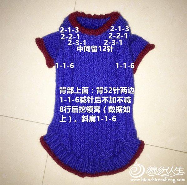 儿童织毛衣教程_棒针狗狗毛衣 宠物毛衣编织教程 -编织教程-编织人生
