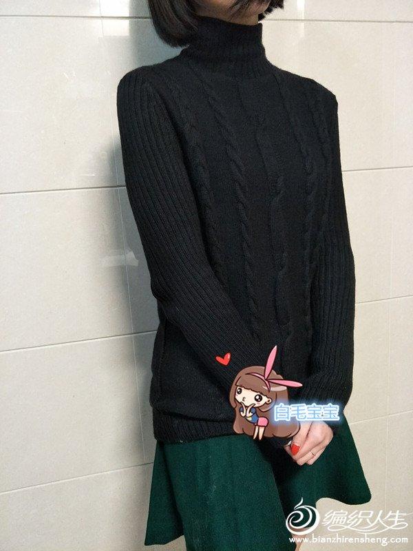 女士棒针高领毛衣