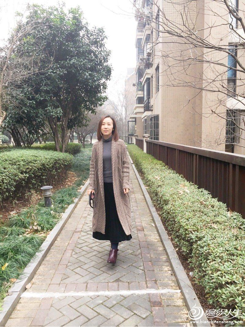 [开衫] 咖啡色休闲时尚长大衣              狮子座的比如鱼 - yn595959 - yn595959 彦妮