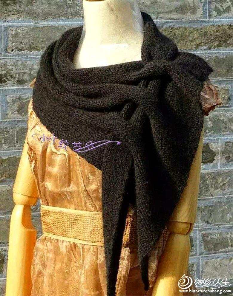 女士棒针羊绒羊毛披肩