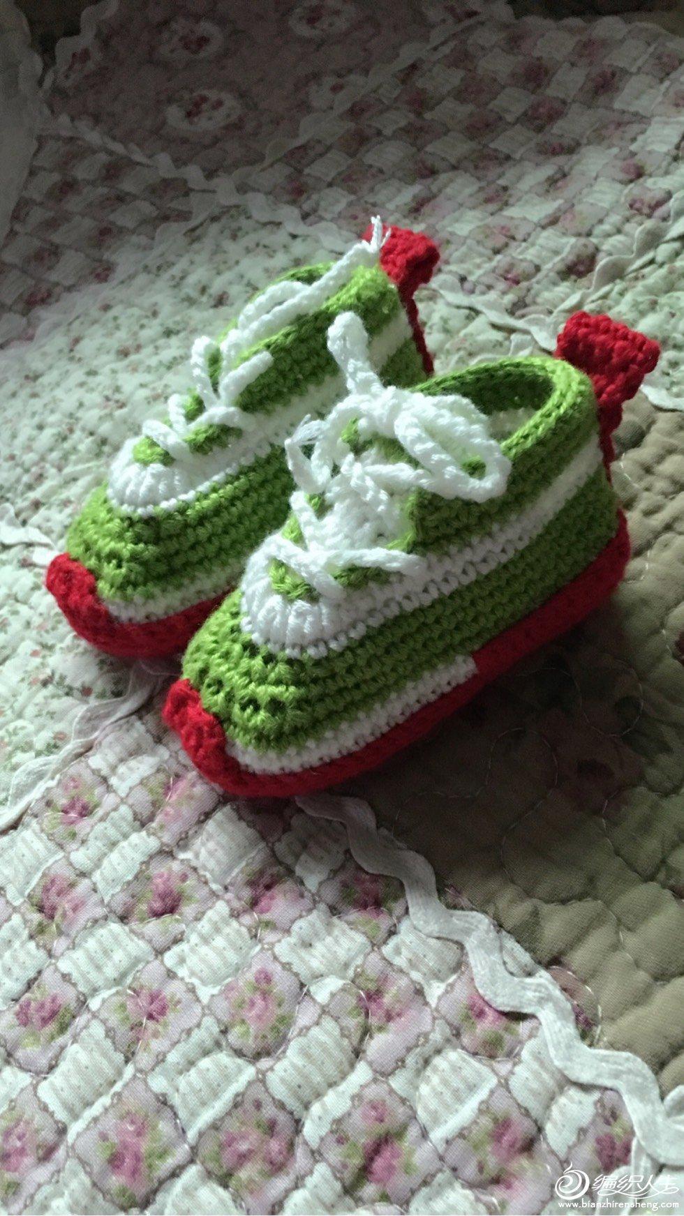 耐克款钩针宝宝鞋