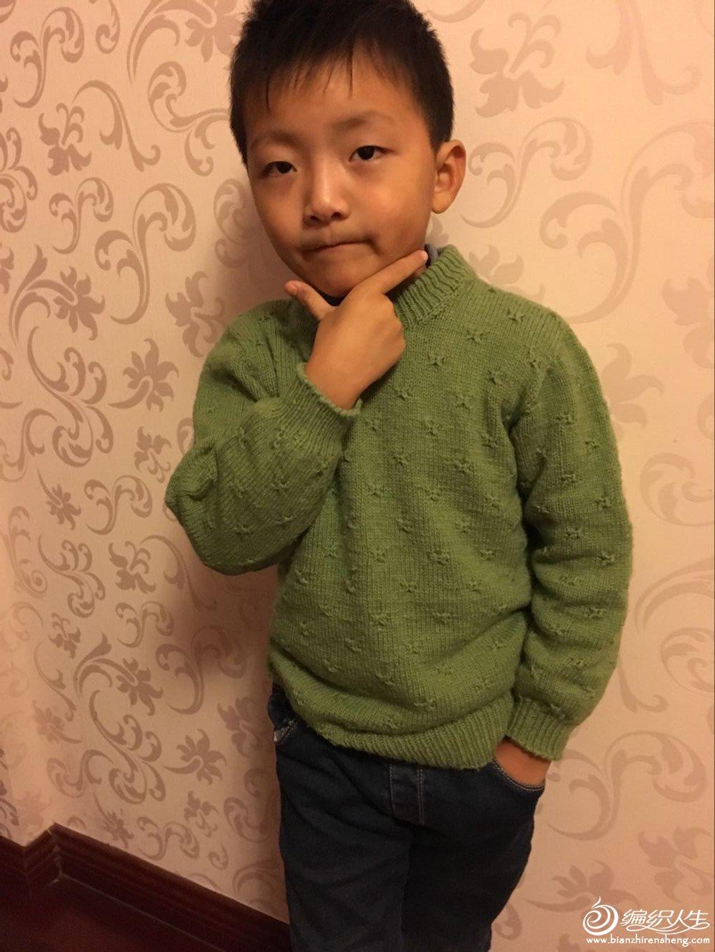 男童棒针毛衣