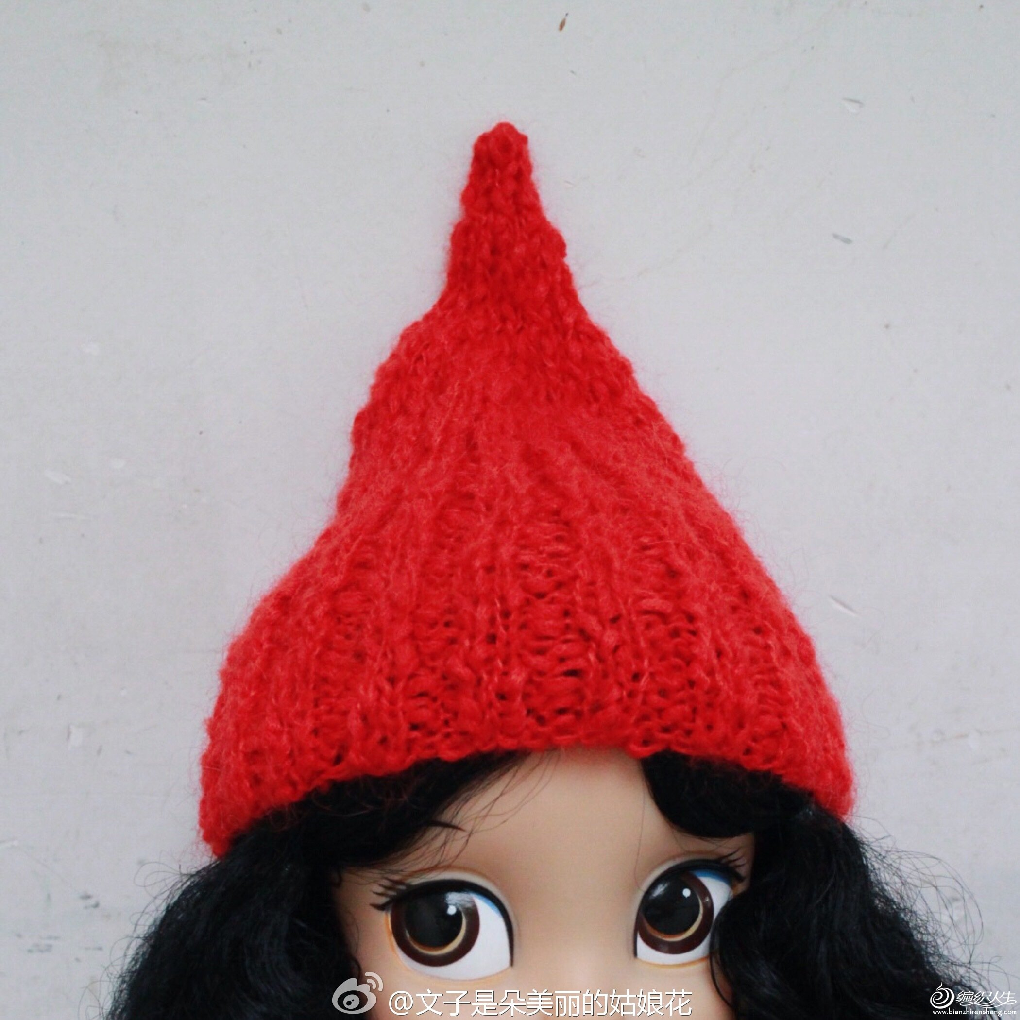 沙龙娃娃毛线奶嘴帽