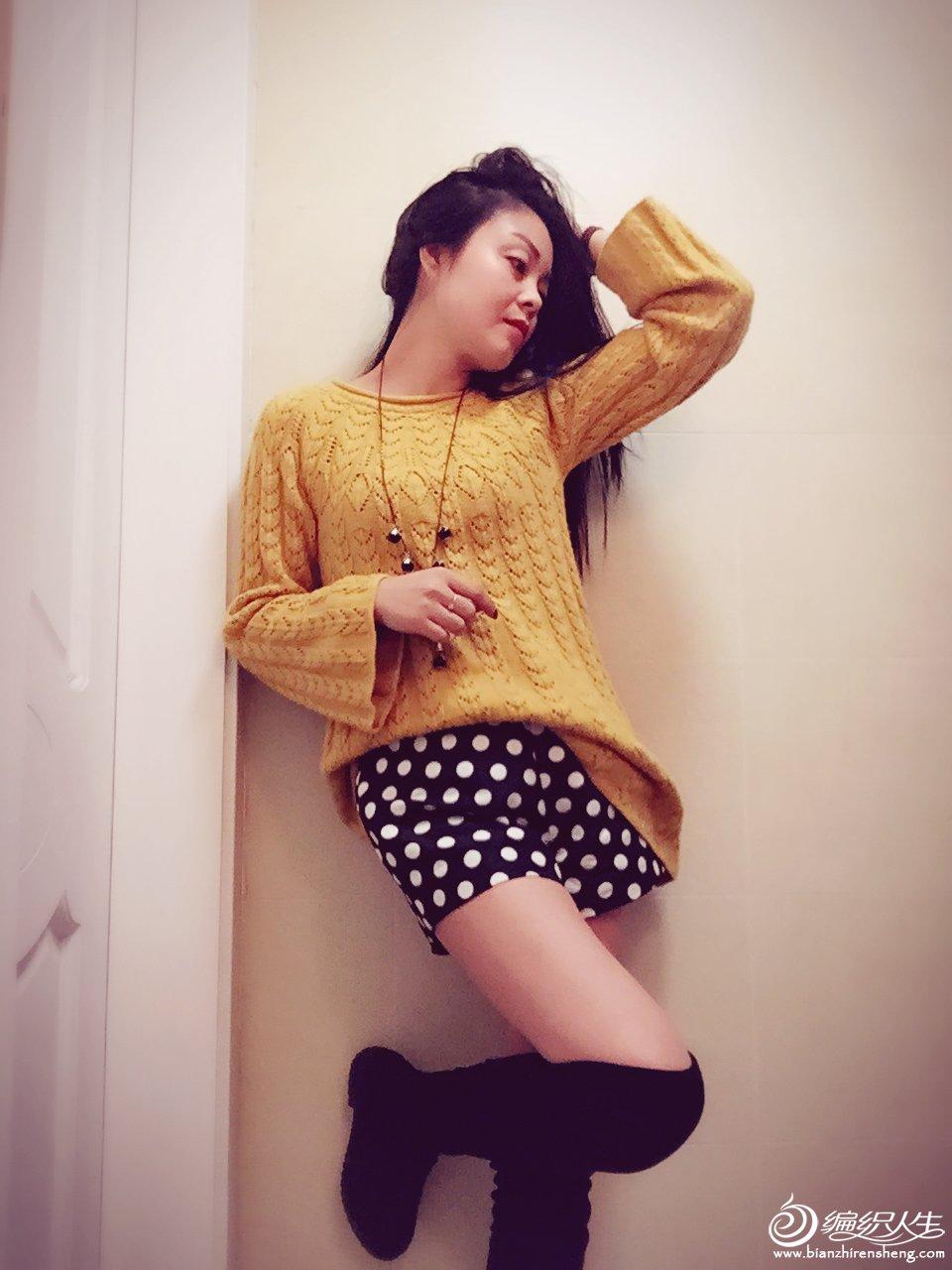 女士棒针裙式毛衣
