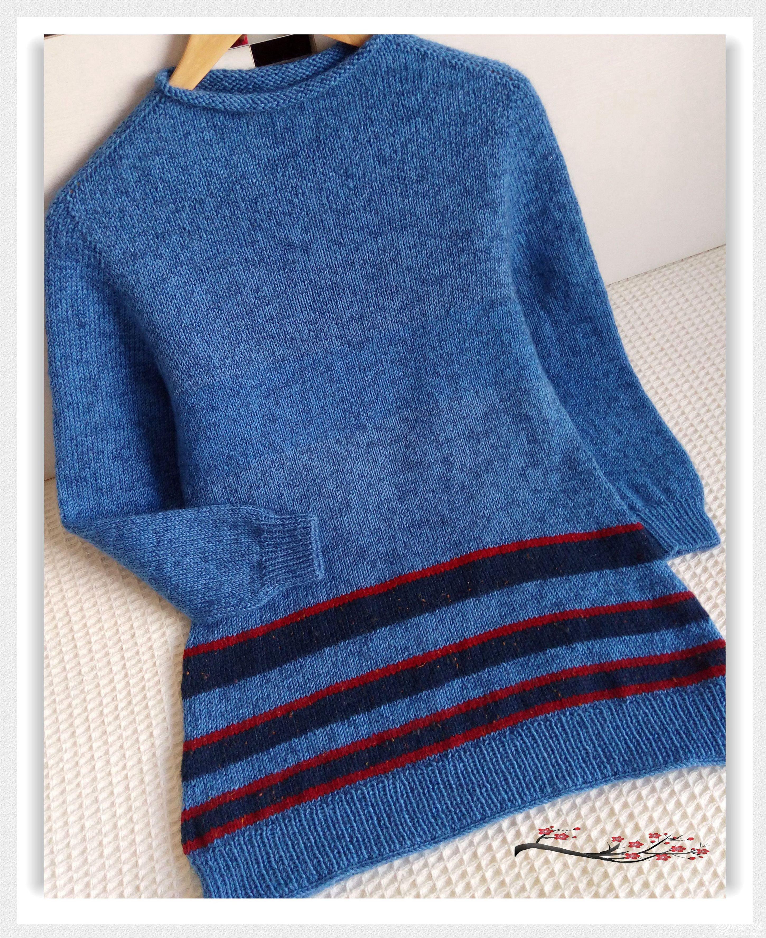 自带袖毛衣款式