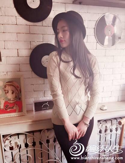 简约时尚女士手编毛衣