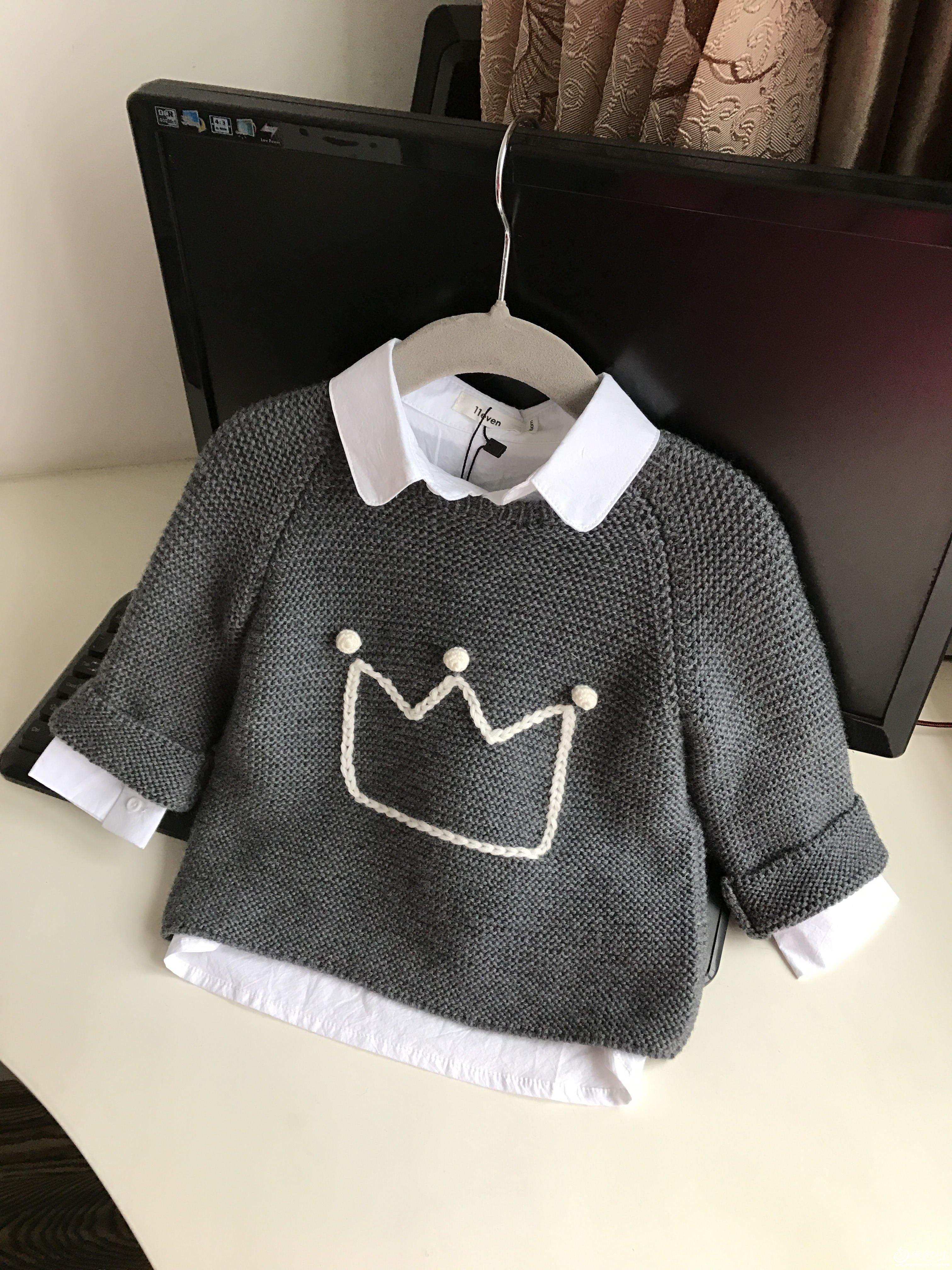 棒针男童羊绒衫