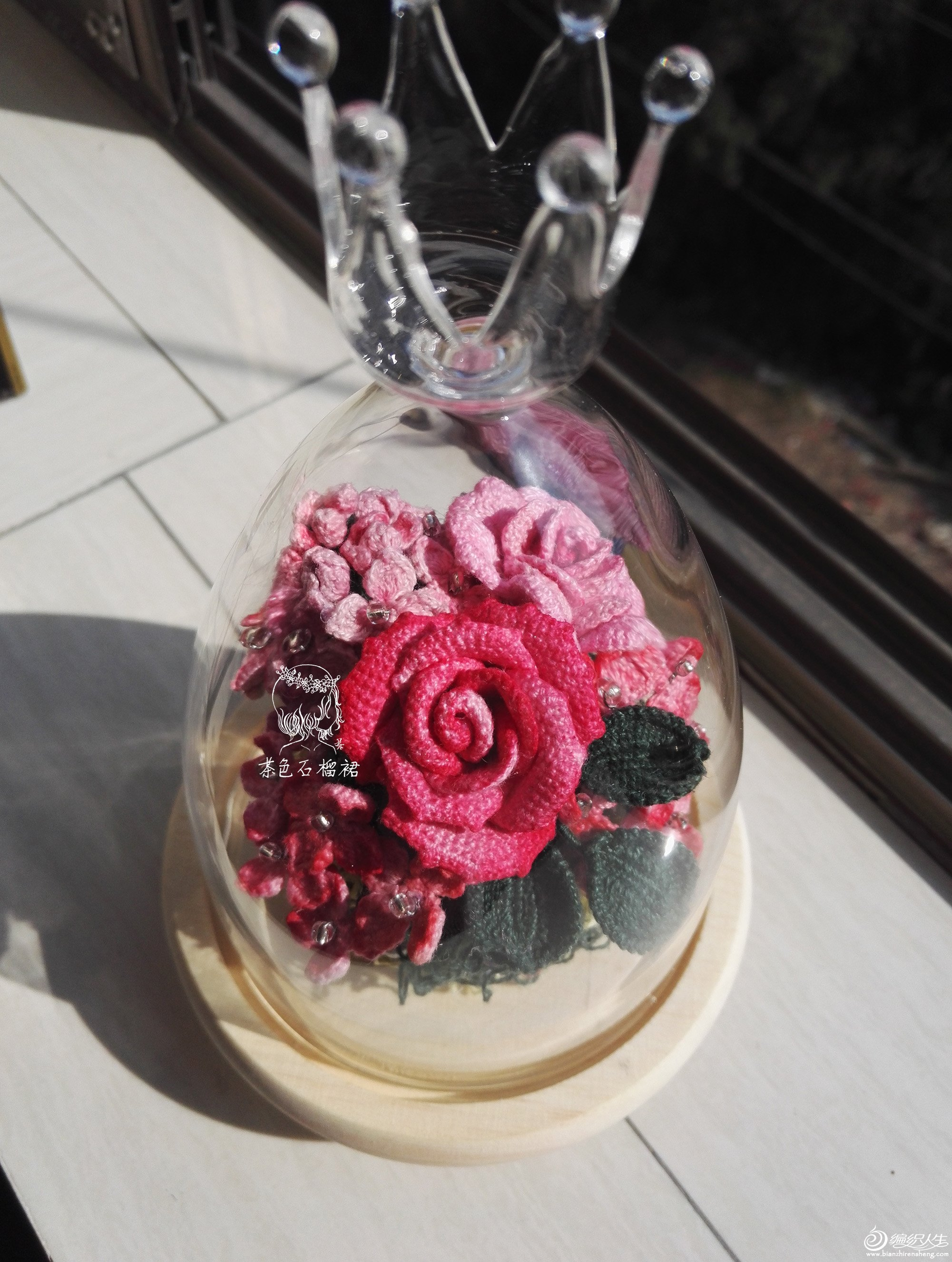 钩针蕾丝玫瑰