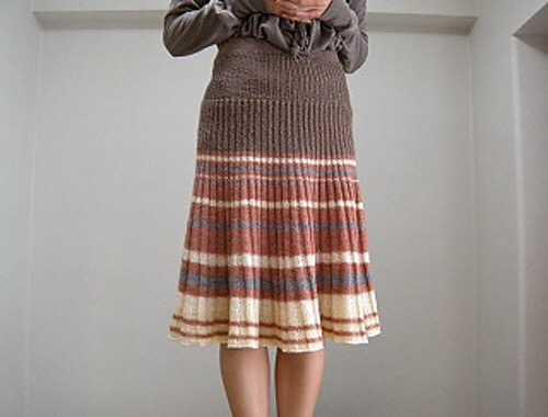 女士棒针百褶裙