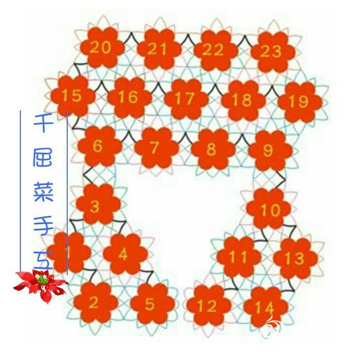 玫瑰花一线连小披教程(付图解)_钩针编织作品秀_编织