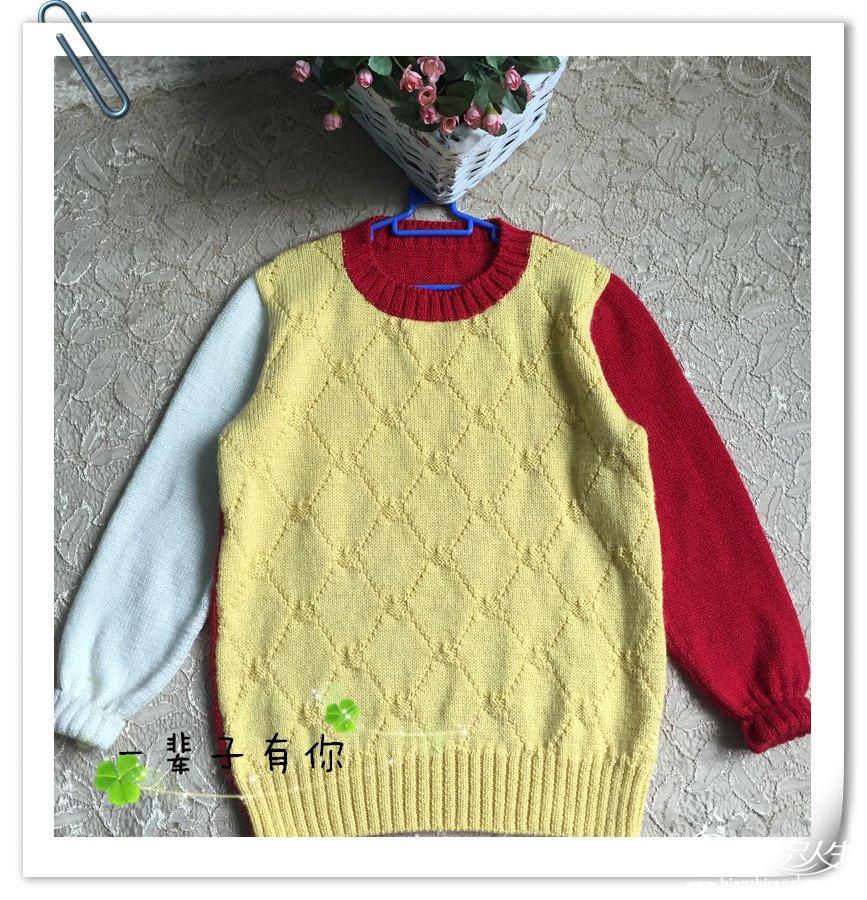 男生棒针羊毛衫