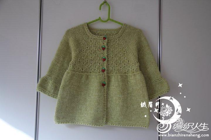 儿童织毛衣教程_从上往下织儿童棒针雏菊花样开衫裙衣-编织教程-编织人生