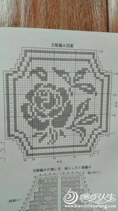 钩针玫瑰图案