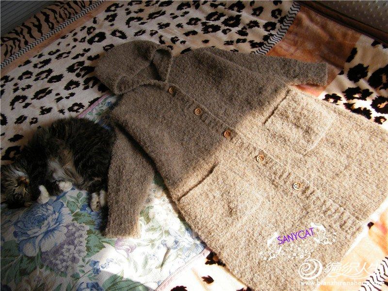 女士棒针外套毛衣
