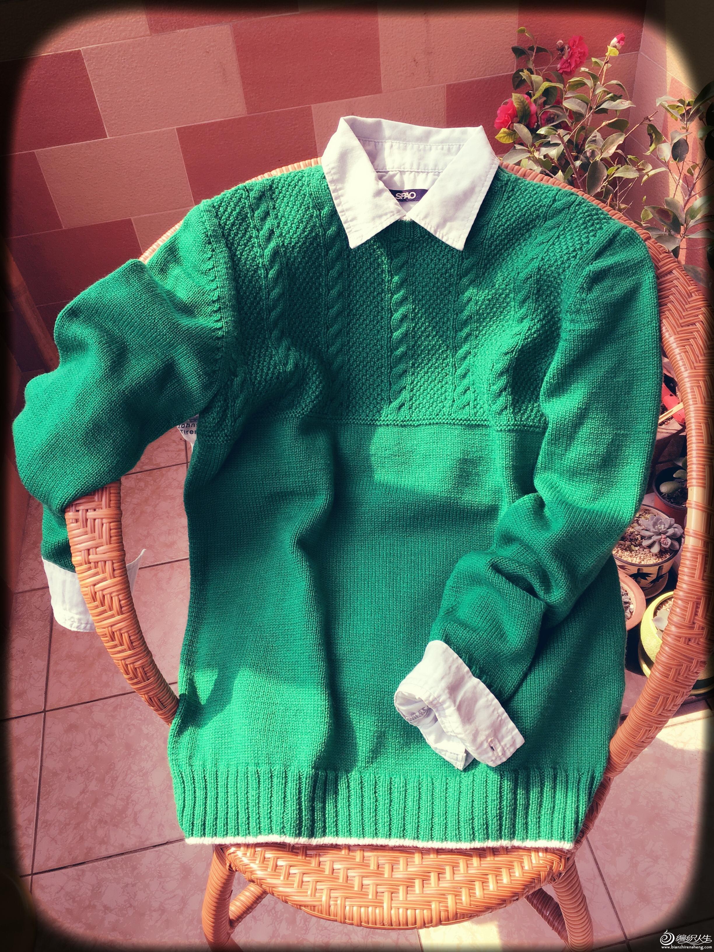 手编男生羊毛衫