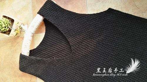 [裙装] 《亮亮织吧》群作业——黑子(不需织领边袖边的长款休闲背心) - yn595959 - yn595959 彦妮