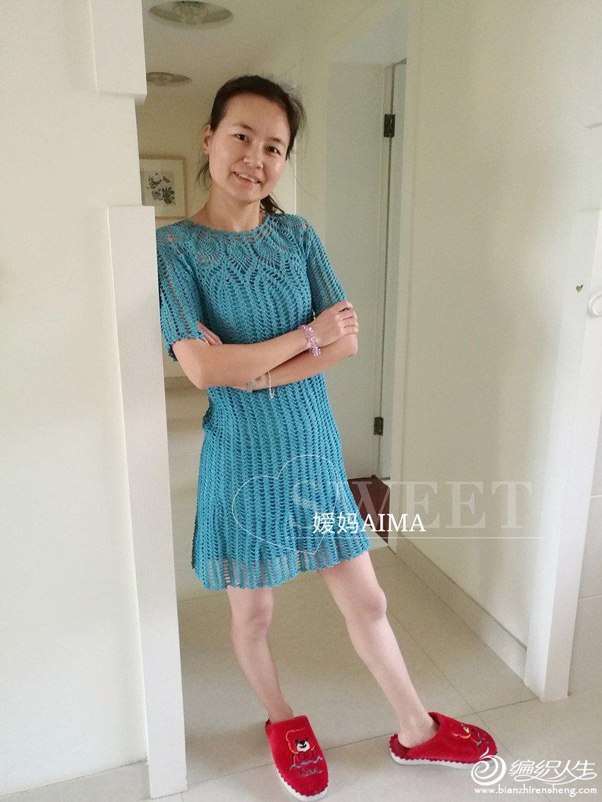 钩针短袖连衣裙