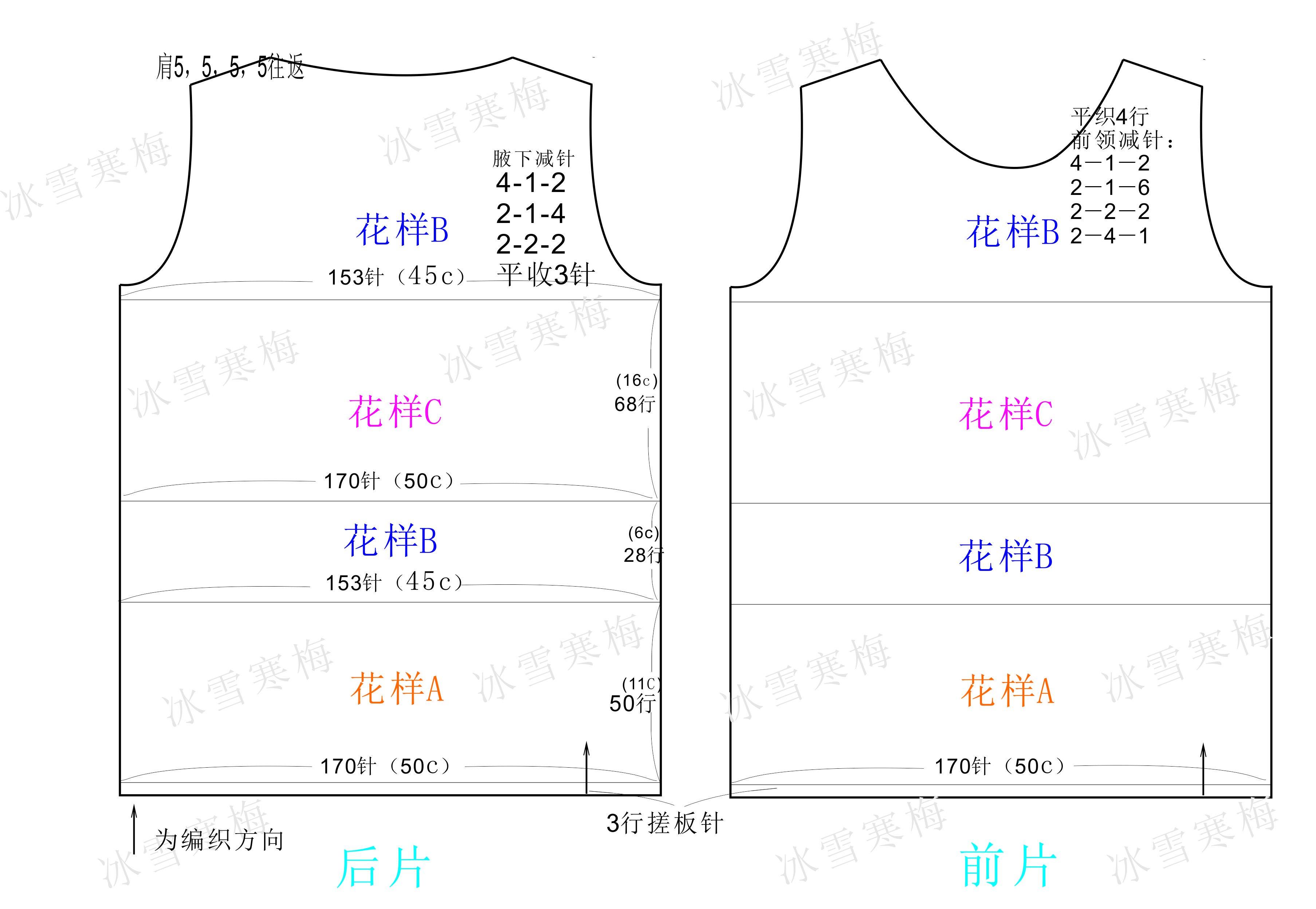 女士毛衣结构图