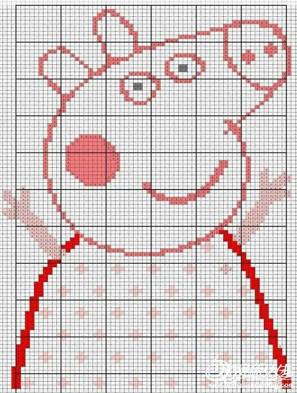 求小猪佩奇的毛衣图案_儿童毛衣图解图库_编织人生