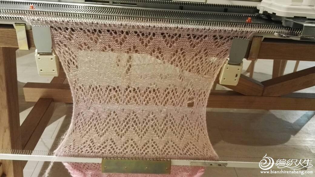 家用编织机空花编织