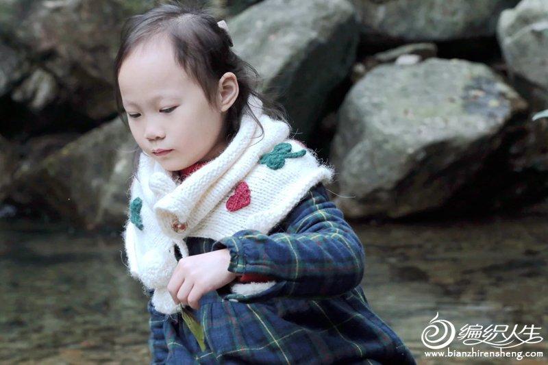 儿童棒针披肩