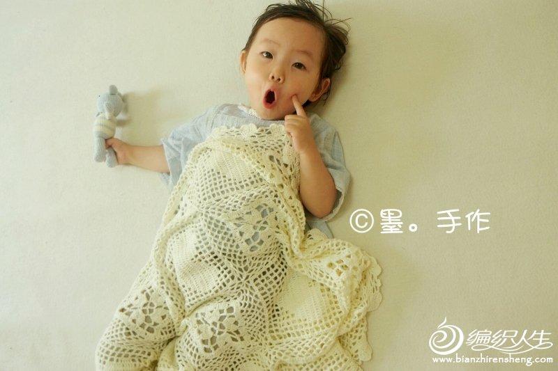 萌可爱钩针毯