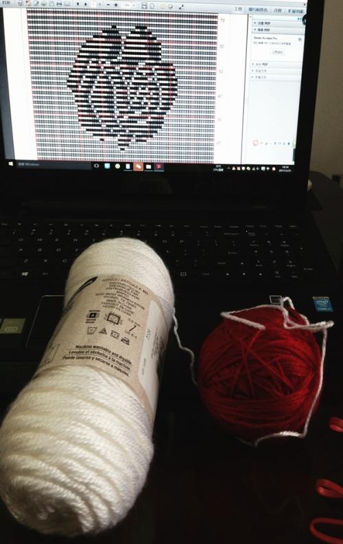 跟【编织玩家】老师学织的玫瑰抱枕 - 雯姐 - 手指的舞动