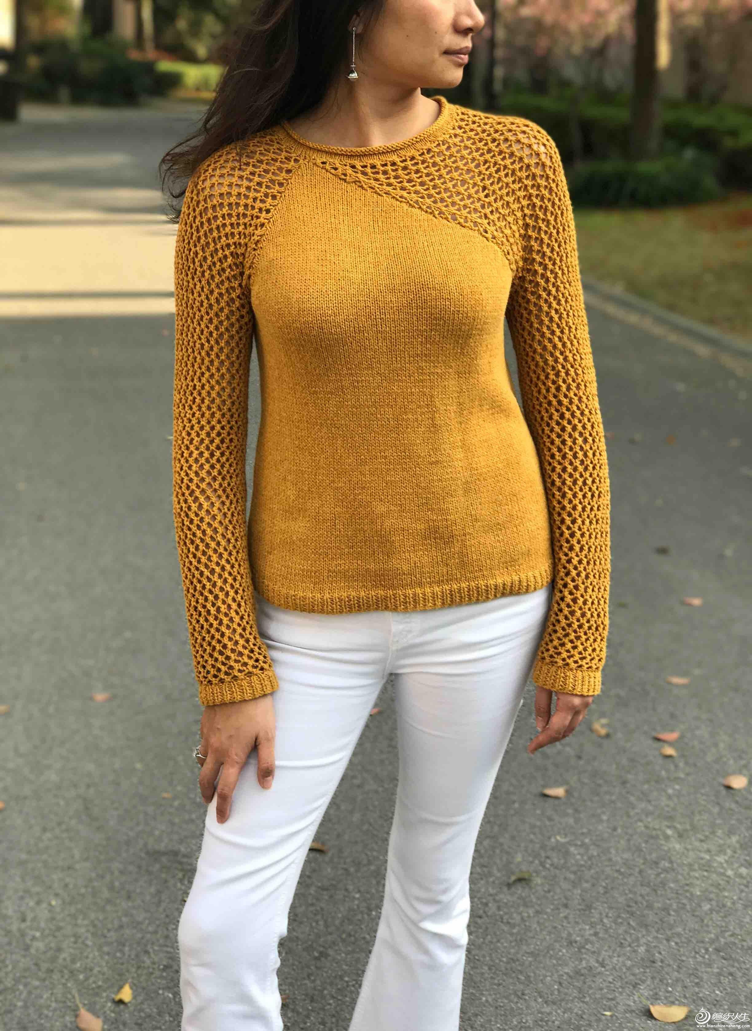 性感女士棒针毛衣