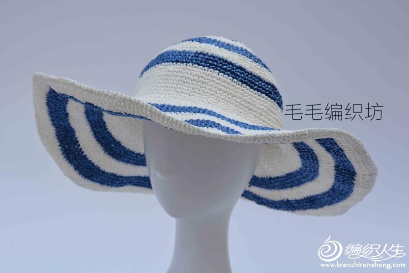 钩针棉草帽款式