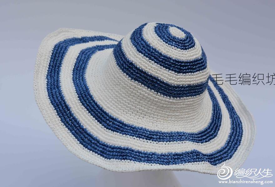 钩针遮阳帽